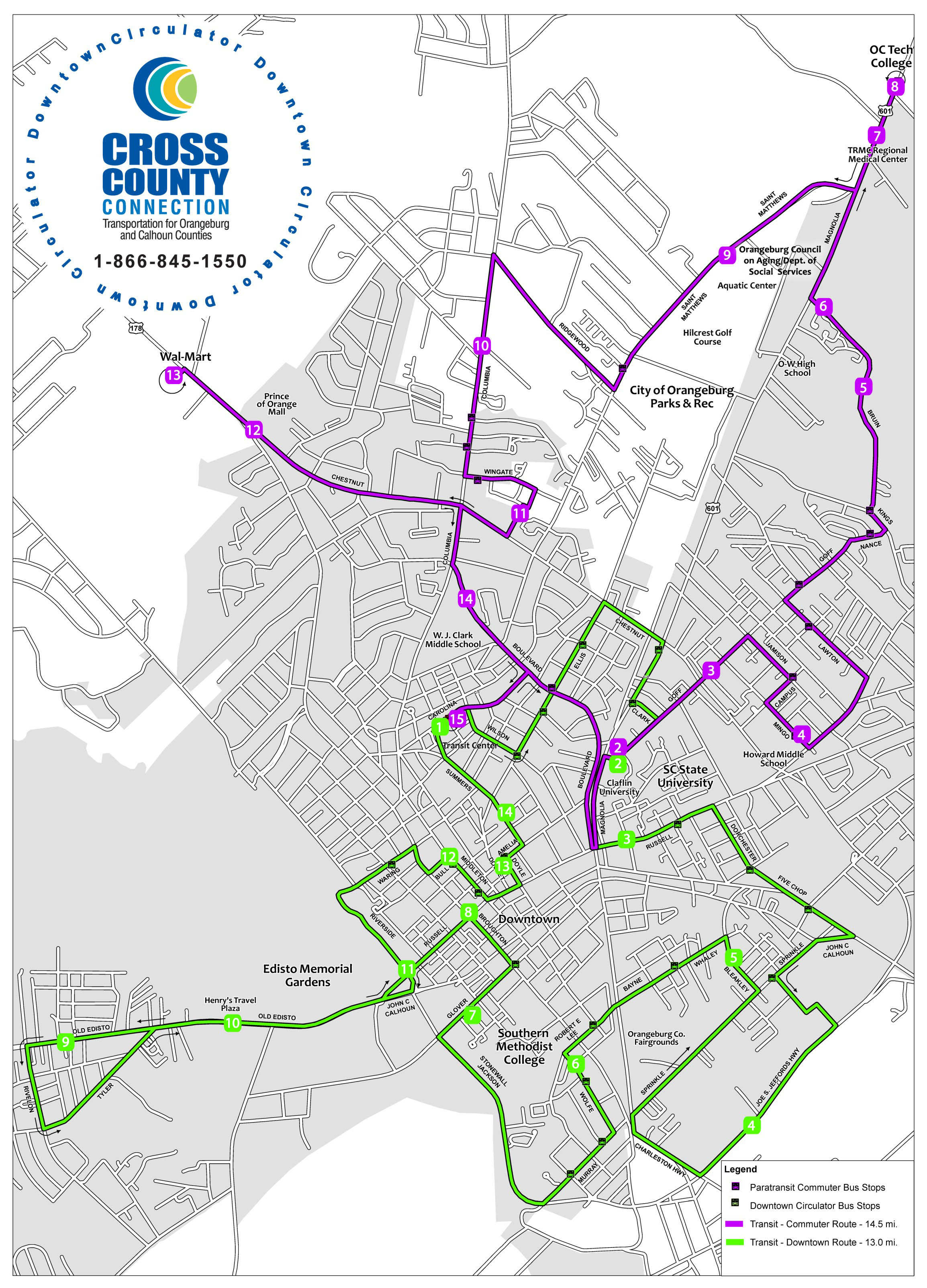 Downtown Circulator Route Map (JPG)