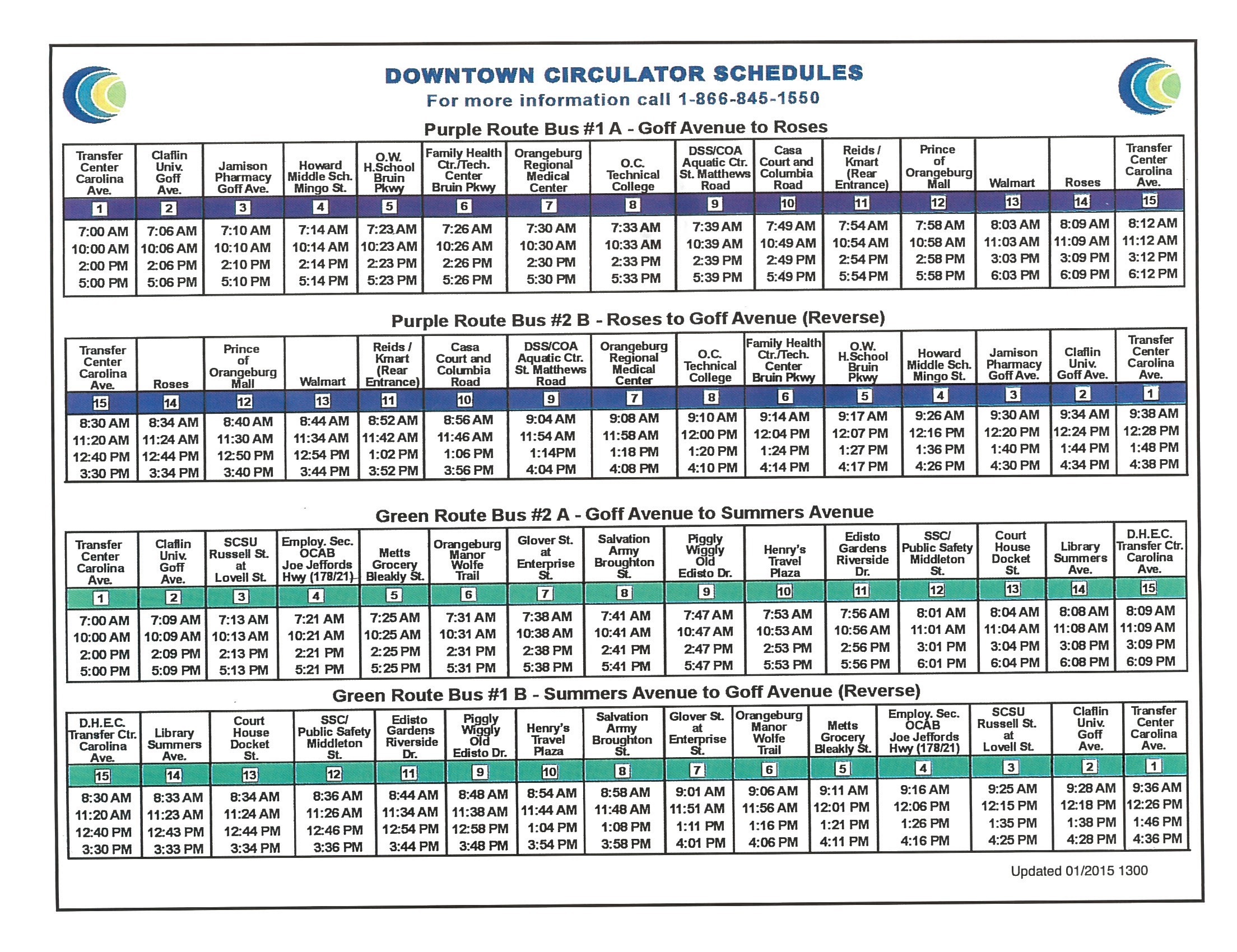 Downtown Circulator Schedule (JPG)