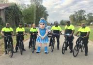 Orangeburg County police with mascot