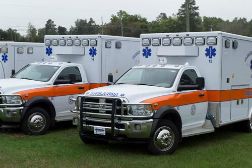 A Small Fleet of Orangeburg County Ambulances